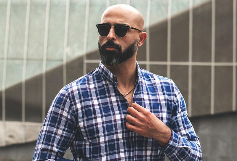 man with beard wearing shades
